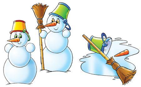 thawing: Snowmen