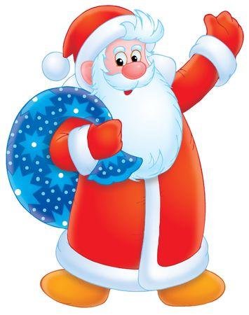 absurd: Santa Clause Stock Photo