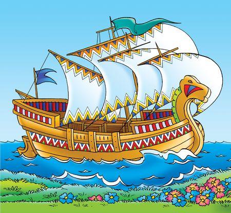 folk tale: Sail Stock Photo