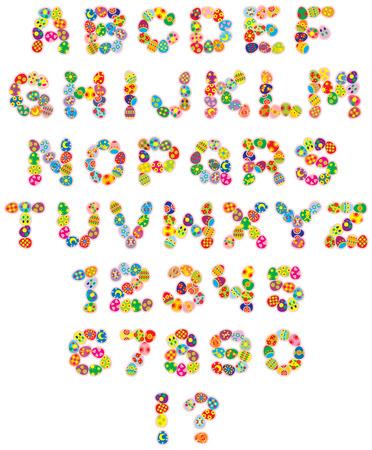 joyeuses p�ques: Joyeuses P�ques police  Illustration