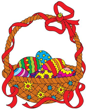 paskha: Easter eggs basket Illustration