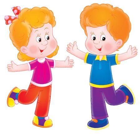gemelos ni�o y ni�a: Ni�os peque�os  Foto de archivo