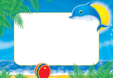 "childish: Photo-frame ""dolphin"""