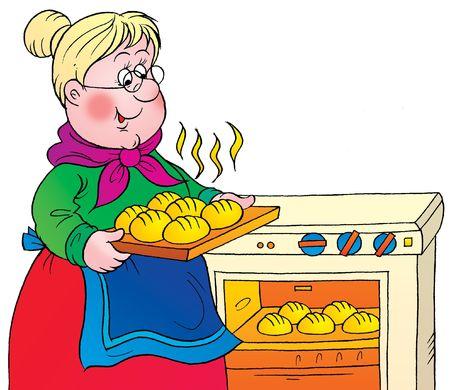 cooker: grandmother Stock Photo
