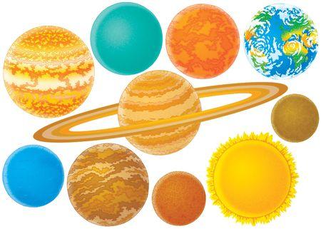 uranium: Planets Stock Photo
