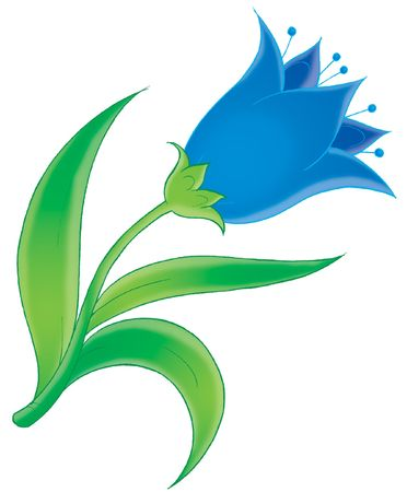 thrive: Blue flower