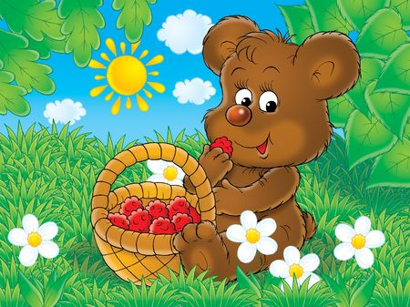 bear berry: Delicious raspberry