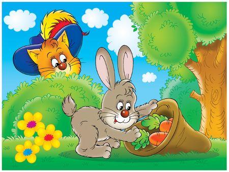 deceive: Cat and rabbit