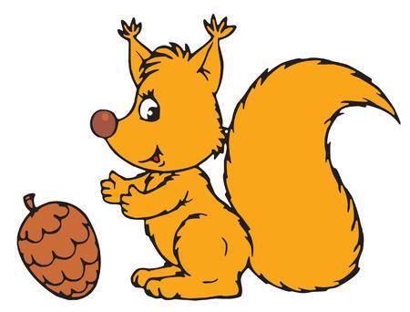 Squirrel Stock Vector - 2611420