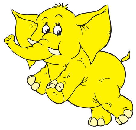 kiddish: Elephant Illustration