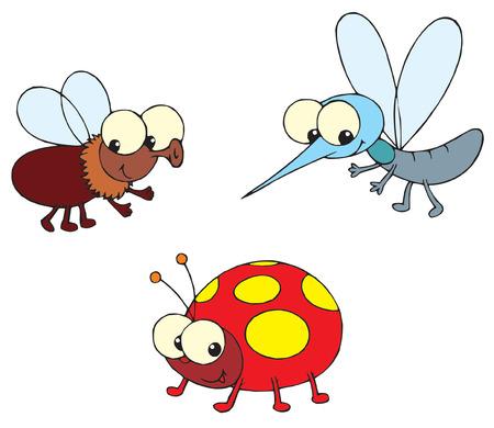 creeps: Mariquita, moscas y mosquitos