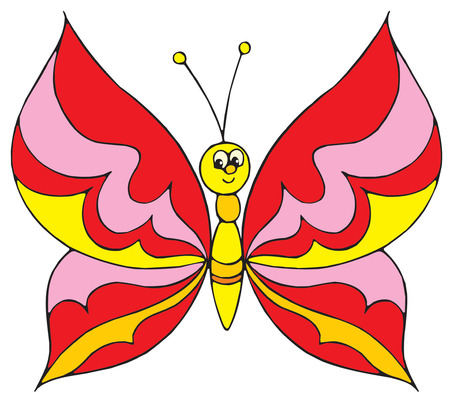 cartoon insect: Butterfly