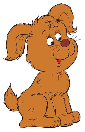 Brown Pup  Vector