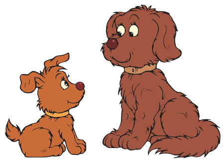 doggies: Dog and Pup  Illustration
