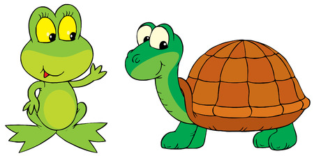 Frog and Turtle Illustration