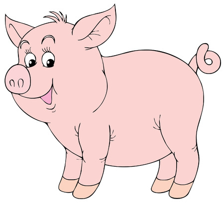 zoological: Pink piglet