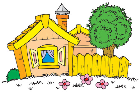 lodging: Rural House  Illustration