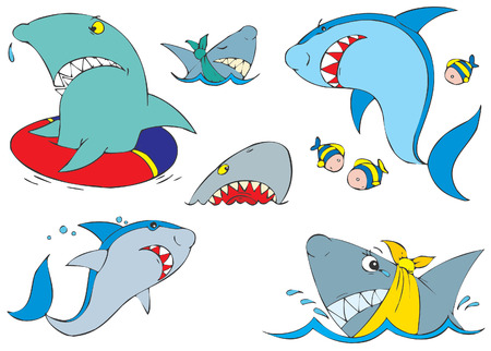 sharks Stock Vector - 2638259