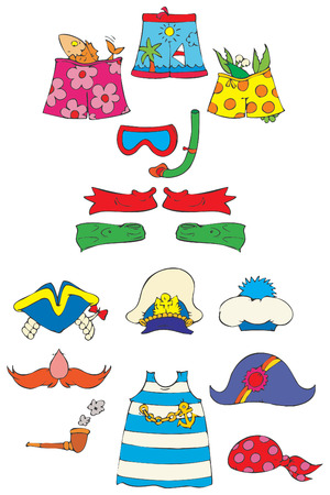 swim cap: Beach clip-arts for your photos Illustration