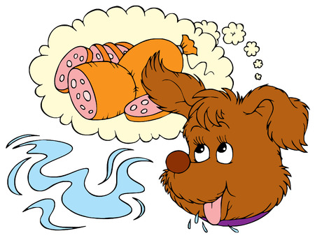 Dog dream Vector