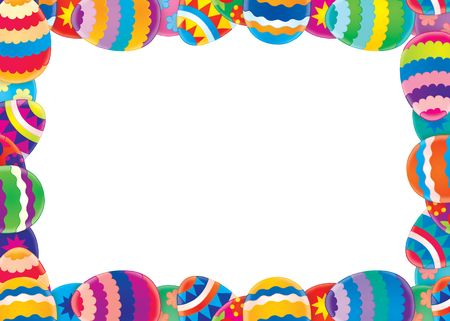 cartoon easter: Easter border  background Stock Photo