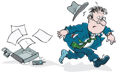 businesslike: Hurry Illustration