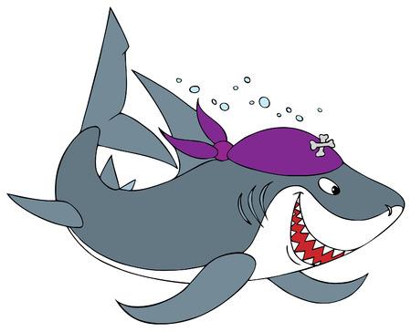 Shark Pirate Stock Vector - 2766450