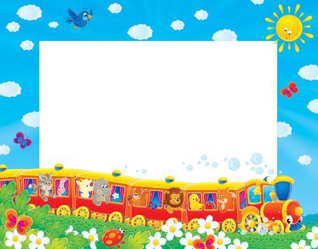 toy: Summer photo-frame  border