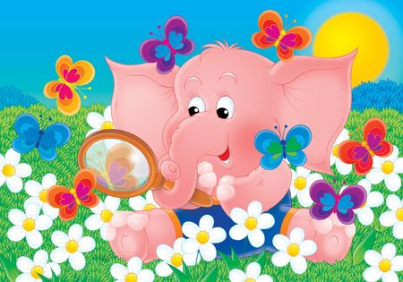 Pink elephant Stock Photo - 2966856