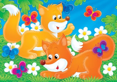 Fox Game Stock Photo - 2966864