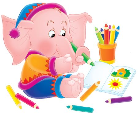 pink elephant Stock Photo - 2966882