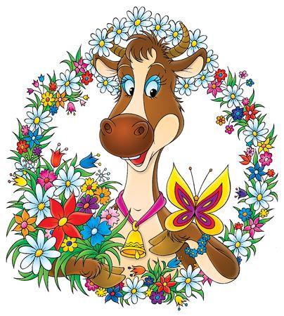 Pretty cow Stock Photo - 2966920