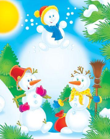 Snowmen Stock Photo - 2966929