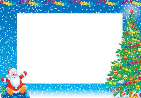 children photo frame: Christmas frame