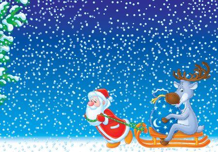 Noël fond, fond d'écran  Banque d'images - 2966965
