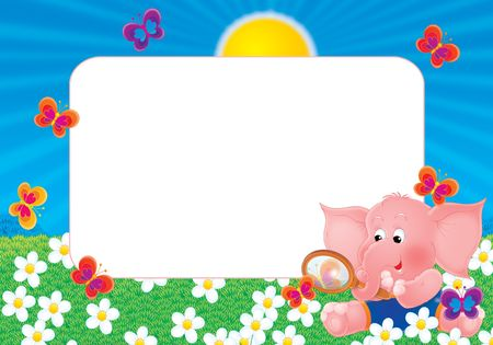 kiddish: Photo-frame Pink elephant