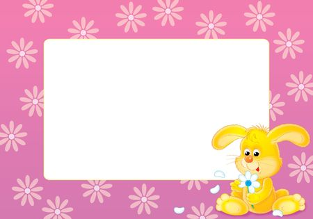 tell fortunes: Photo-frame Yellow bunny