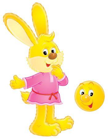 Rabbit and Kolobok Stock Photo - 3103509