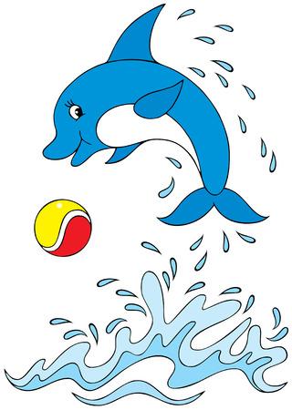 delfini: Delfino acrobata Vettoriali