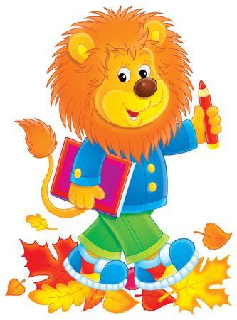 Lion schoolboy Stock Photo - 3540479