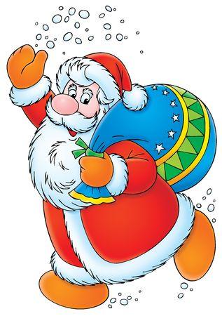 cartoon santa clause: Santa Claus Stock Photo