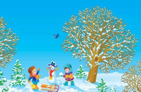 snowman wood: Winter vacation LANG_EVOIMAGES