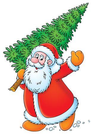 산타 클로스: 크리스마스 트리와 산타 클로스
