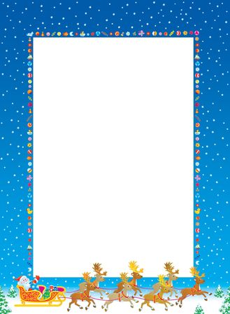 grandfather frost: Christmas frame