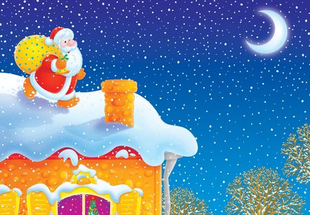 Santa Claus on the house-top