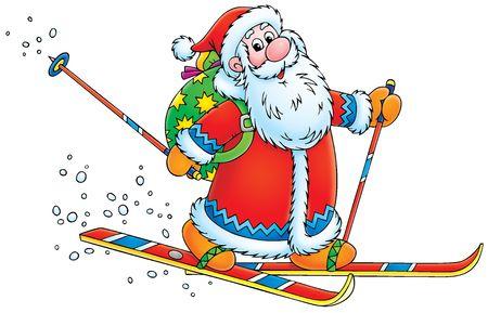 Santa Claus skier Stock Photo - 3816665