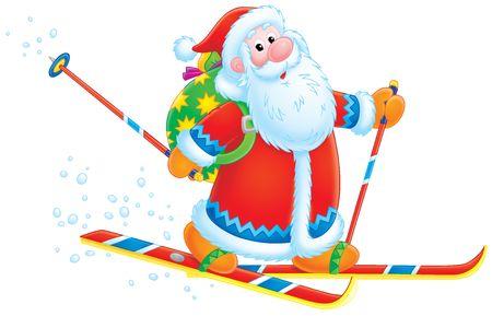 Santa Claus skier  Stock Photo - 3816664