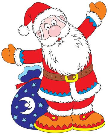 cartoon santa clause: Santa Claus Illustration