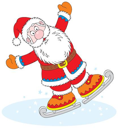 Santa Claus skater Stock Vector - 3898684