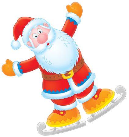 Santa Claus skater Stock Photo - 3898680